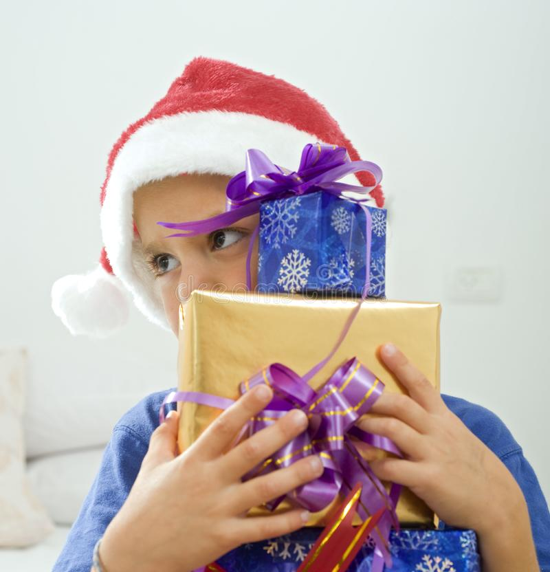 Download Boy and presents stock photo. Image of jolly, celebration - 6600658