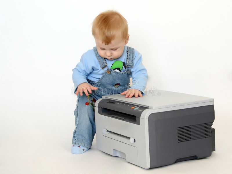 Download Boy With A Printer Royalty Free Stock Photo - Image: 3941165