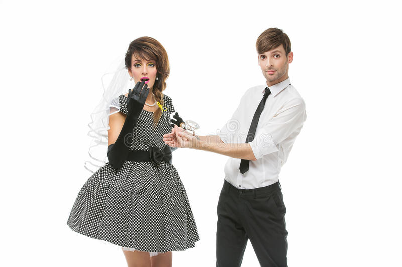 Boy Proposing To Girl With Huge Ring Stock Photo Image Of Love