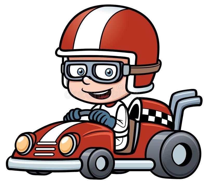 Boy Racing stock illustration