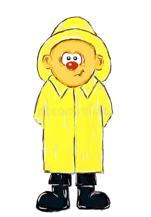 Download Boy with raincoat stock illustration. Image of male, comic - 16267298
