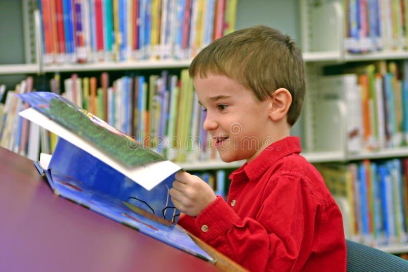Boy Reading stock photo