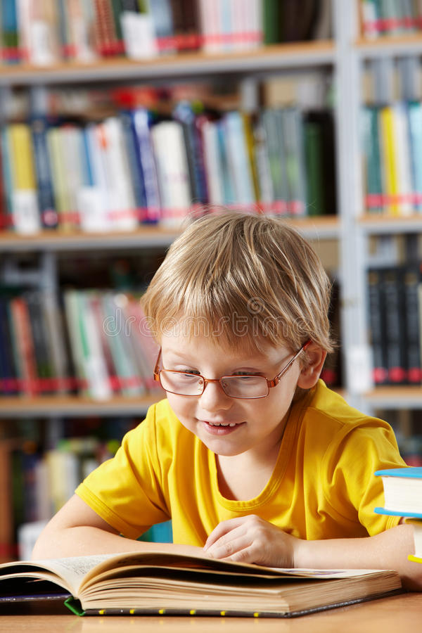 Boy reading royalty free stock photos