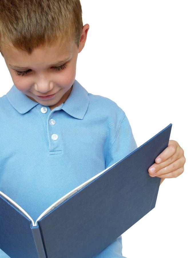 Boy reading stock image