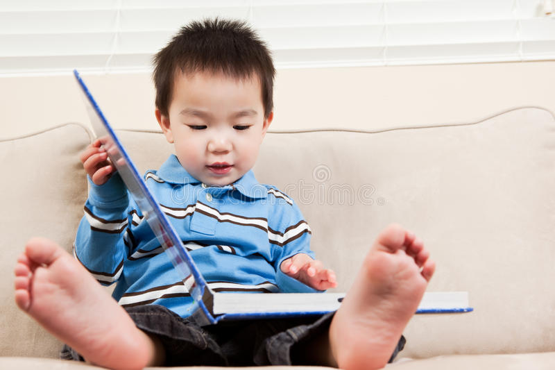 Download Boy reading a book stock image. Image of ethnic, smiles - 12912089