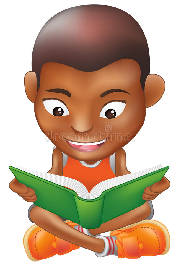 Download Boy reading a book stock vector. Illustration of ethnicity - 15227795