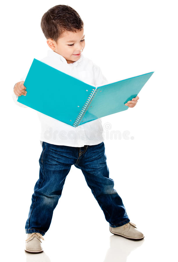 Download Boy reading a book stock image. Image of latinamerican - 23972759