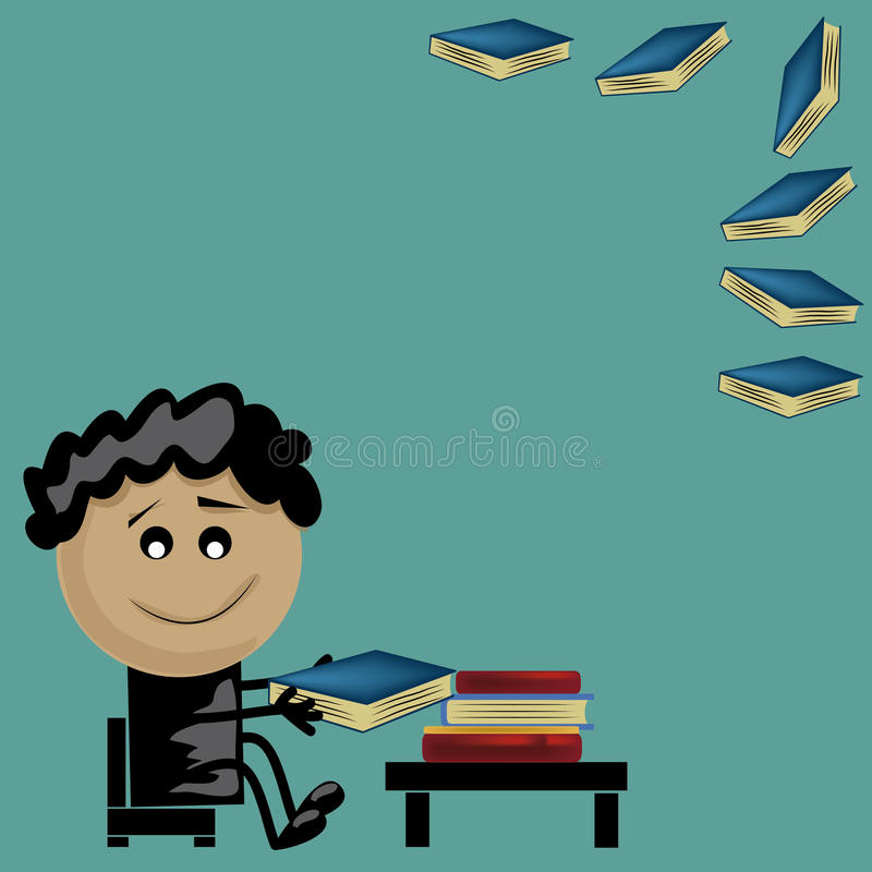 Download Boy reading books stock vector. Illustration of colorful - 32866718