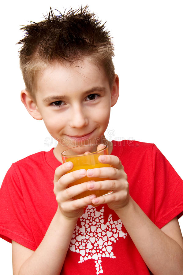 Boy ready to drink royalty free stock image
