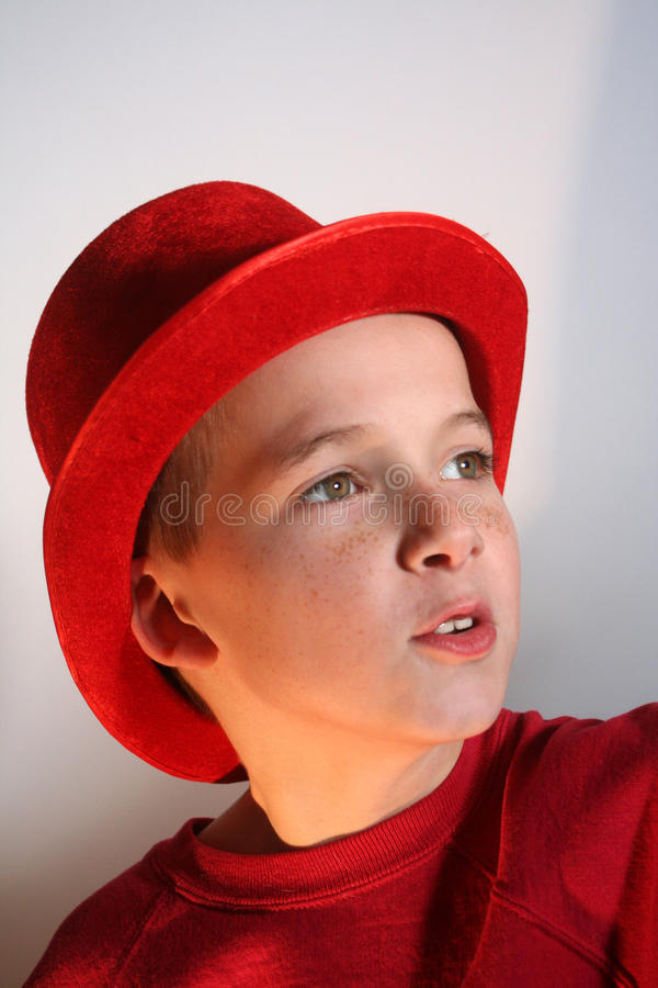 Download Boy In Red Top Hat stock photo. Image of colorful, attractive - 26137250