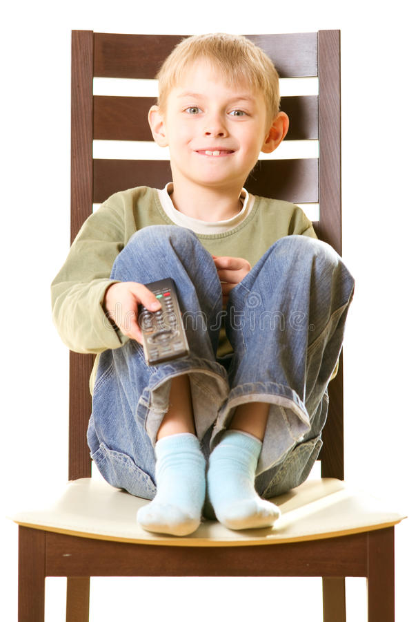 Boy with remote control royalty free stock photos