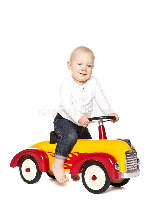 Download Boy riding his toycar stock image. Image of little, playing - 11837435