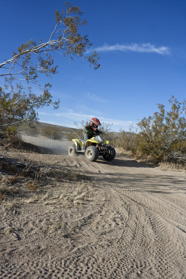 Download Boy Riding Quad stock photo. Image of trails, green, bike - 22886842