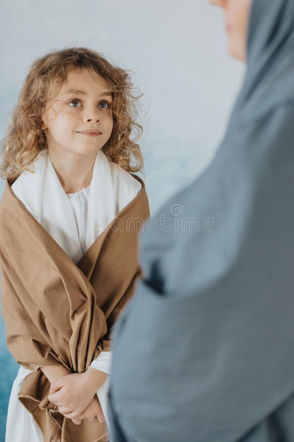 Boy in robes royalty free stock images