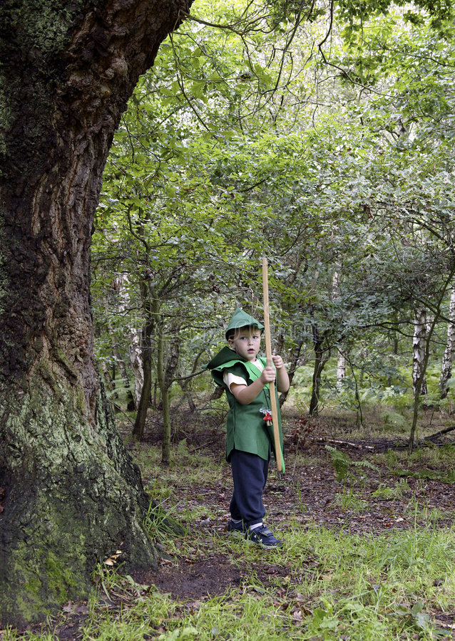 Download A boy Robin Hood stock image. Image of childhood, costume - 1723661