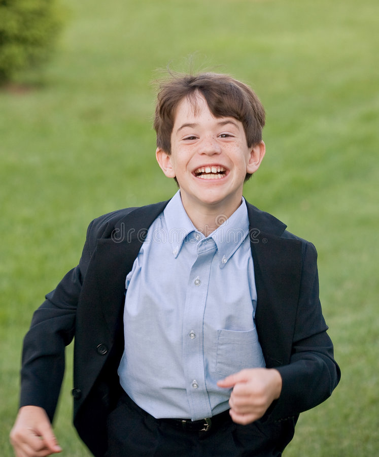 Download Boy Running stock image. Image of dressy, face, kids, cute - 6520311