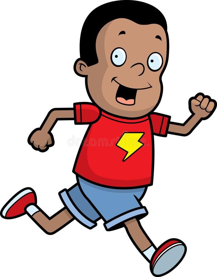 Boy Running royalty free illustration