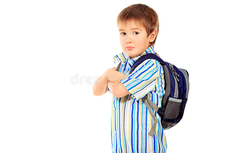 Download Boy's backpack stock image. Image of people, space, little - 23767475