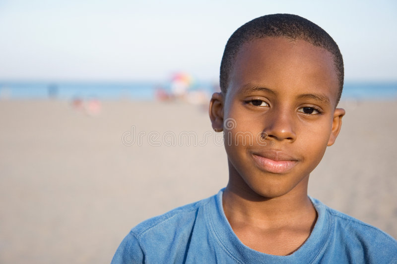 A boys beach royalty free stock images