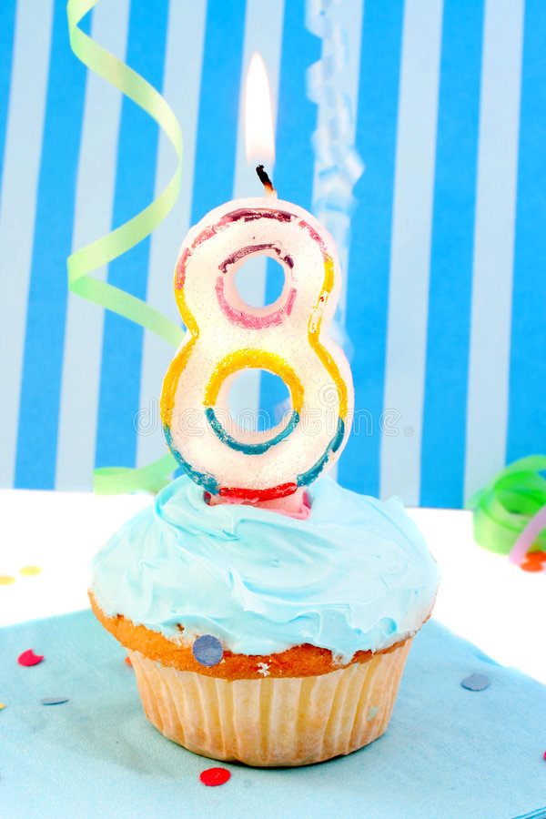 Boy S Eighth Birthday Royalty Free Stock Photo