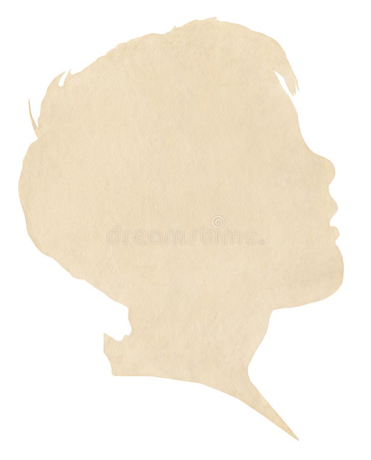 Download Boy's Paper Silhouette stock image. Image of grainy, vintage - 22378659