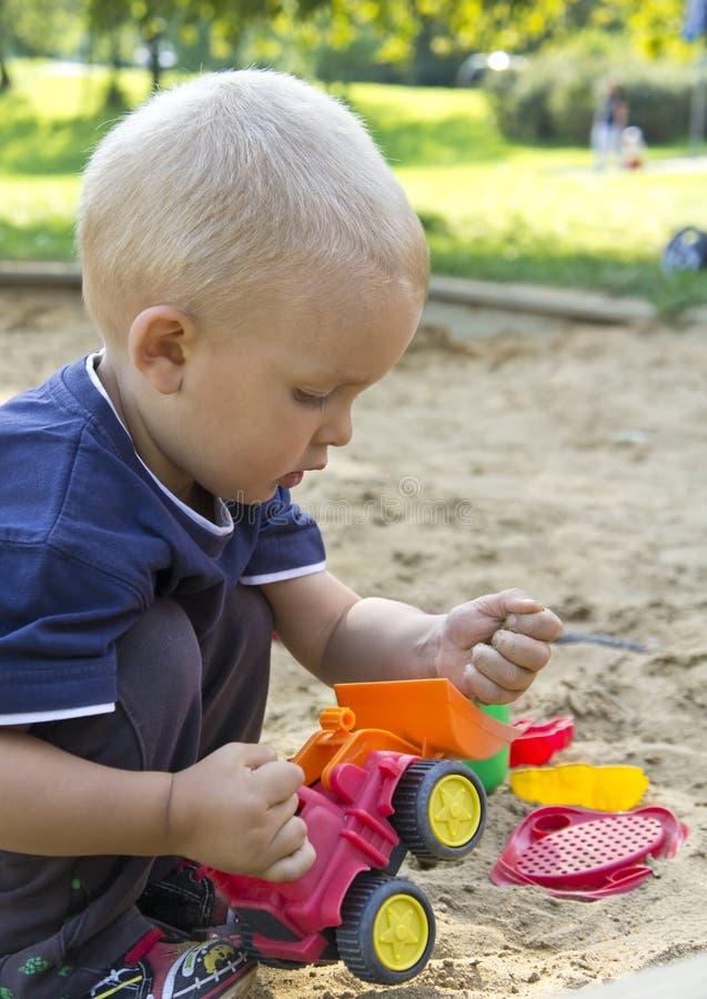 Boy On Sand Royalty Free Stock Photo