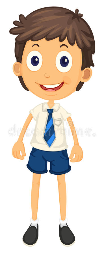 Download A boy in school uniform stock vector. Image of illustration - 26264301
