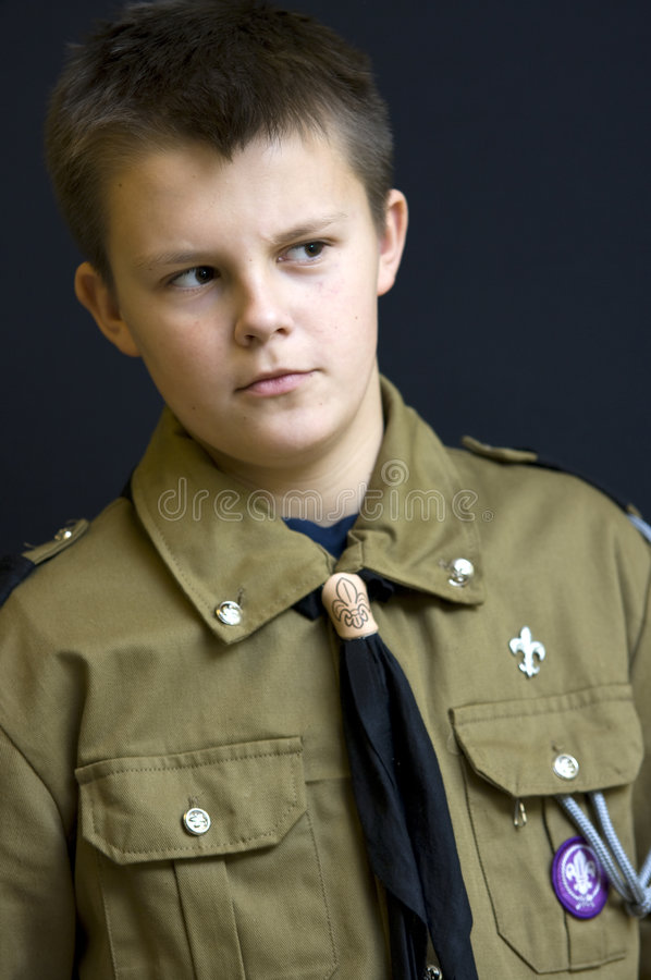 Download Boy scout stock image. Image of scout, looking, club, teenage - 7465525