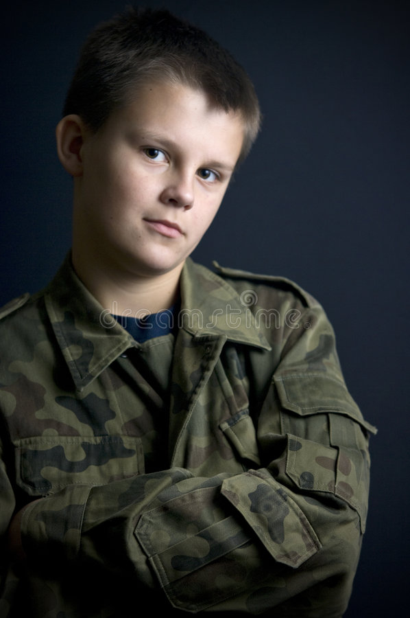 Download Boy scout stock image. Image of emblems, teenage, looks - 7465949