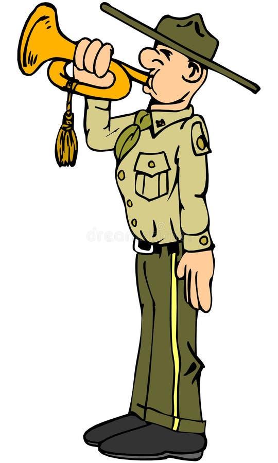 Download Boy scout stock illustration. Image of uniform, signal - 9013449
