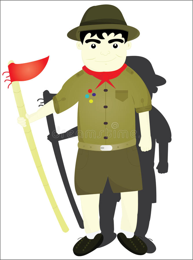 The boy scout vector illustration