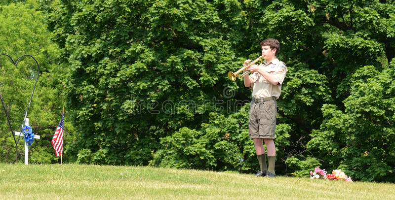 Download Boy Scout Plays Tap On Memorial Day Editorial Image - Image: 25607970