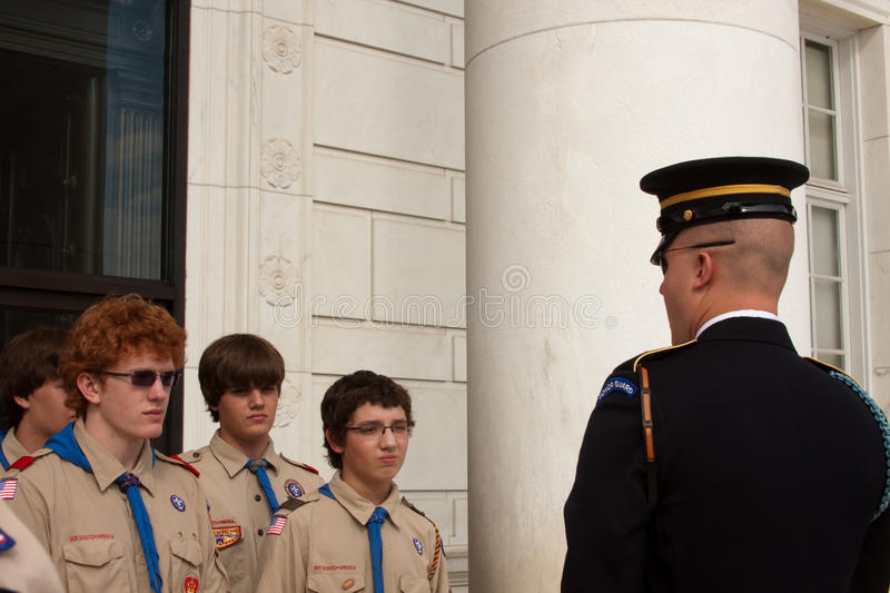 Arlington Cemetery The Honor Guard 2010 Editorial Image