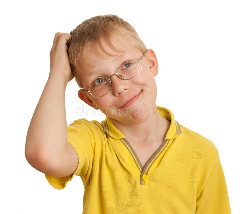 Download Boy Scratches His Head In Puzzlement Or Confusion Stock Image - Image: 18696745