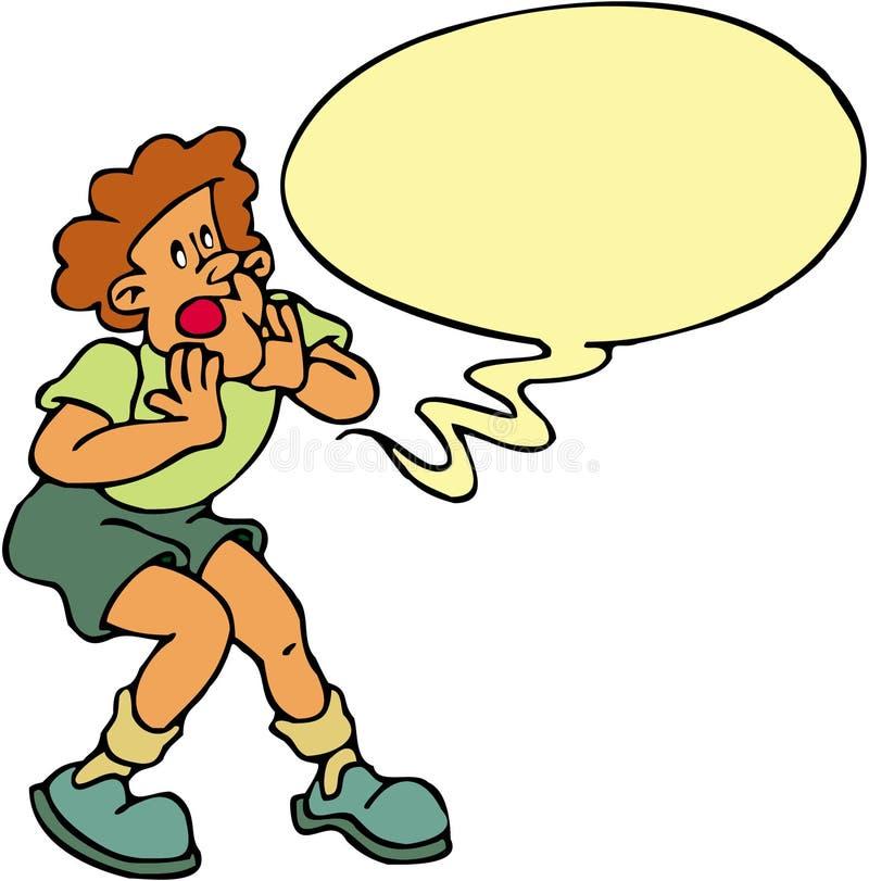 Download Boy Screaming stock illustration. Illustration of humor - 1423478