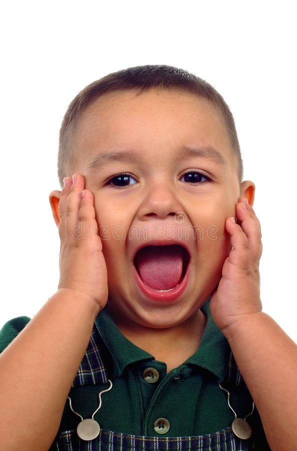 Boy Screaming royalty free stock image