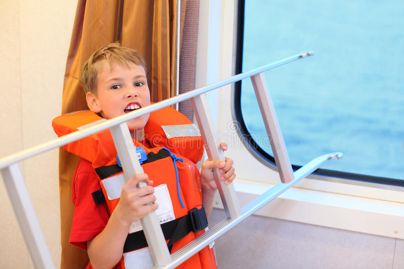 Download Boy Screams And Holds Ladder Stock Image - Image: 26337305
