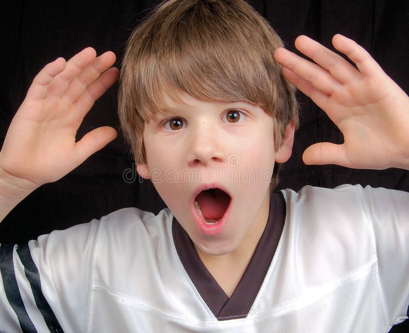 Boy in shock stock images