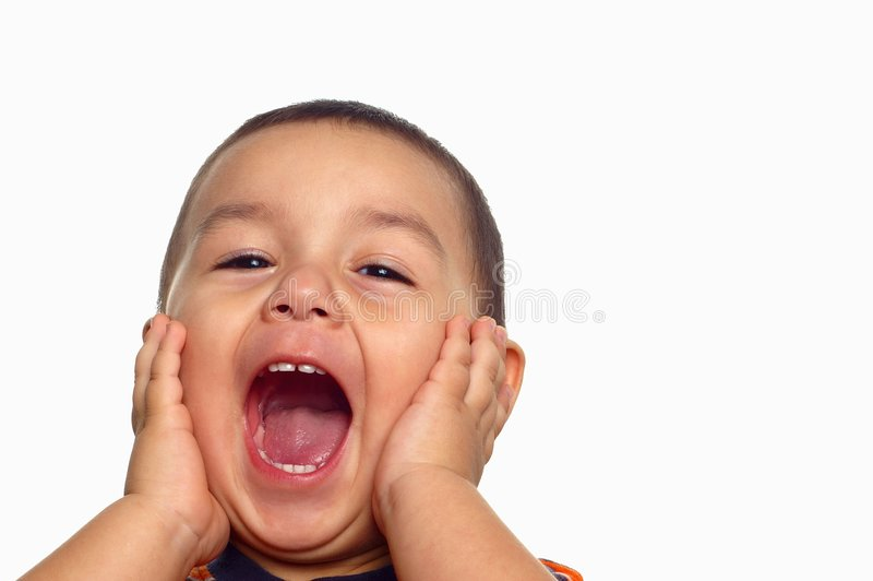 Download Boy Shouting stock photo. Image of funny, handsome, horizontal - 3176816