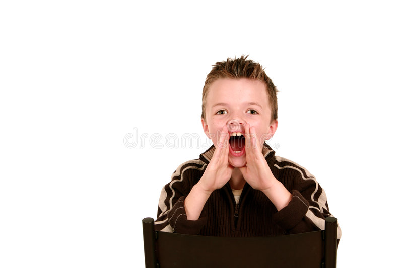 Download Boy shouting stock photo. Image of freckles, calling, cute - 7555596