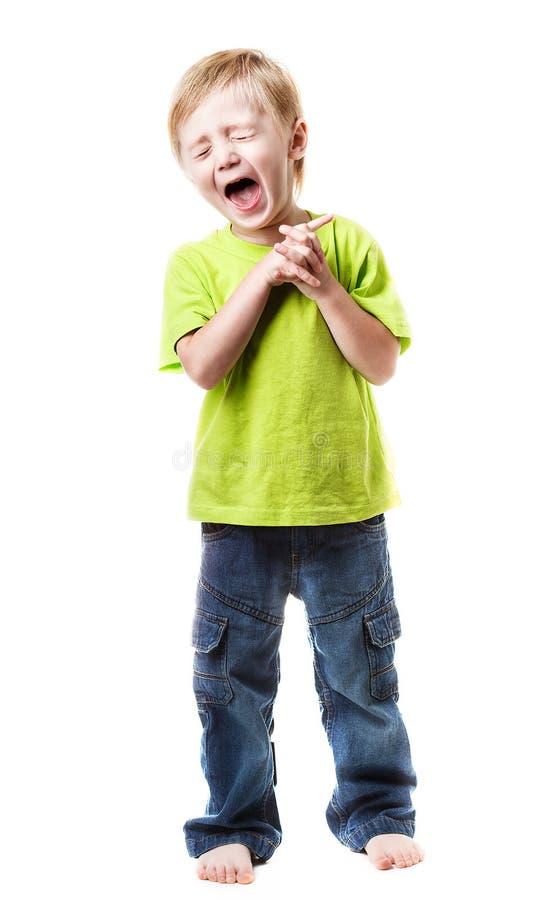 Boy shouting royalty free stock image