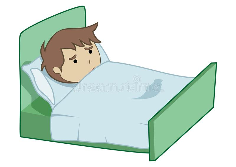 Download Boy sick stock illustration. Image of cartoon, healthy - 26277011
