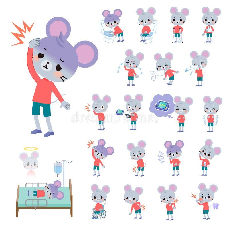 Boy_sickness animal do rato ilustração royalty free