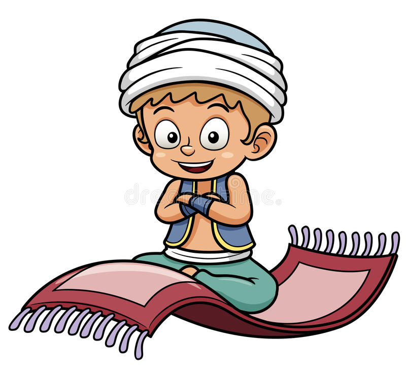 Free Boy Sitting On Flying Carpet Royalty Free Stock Photo - 30093935