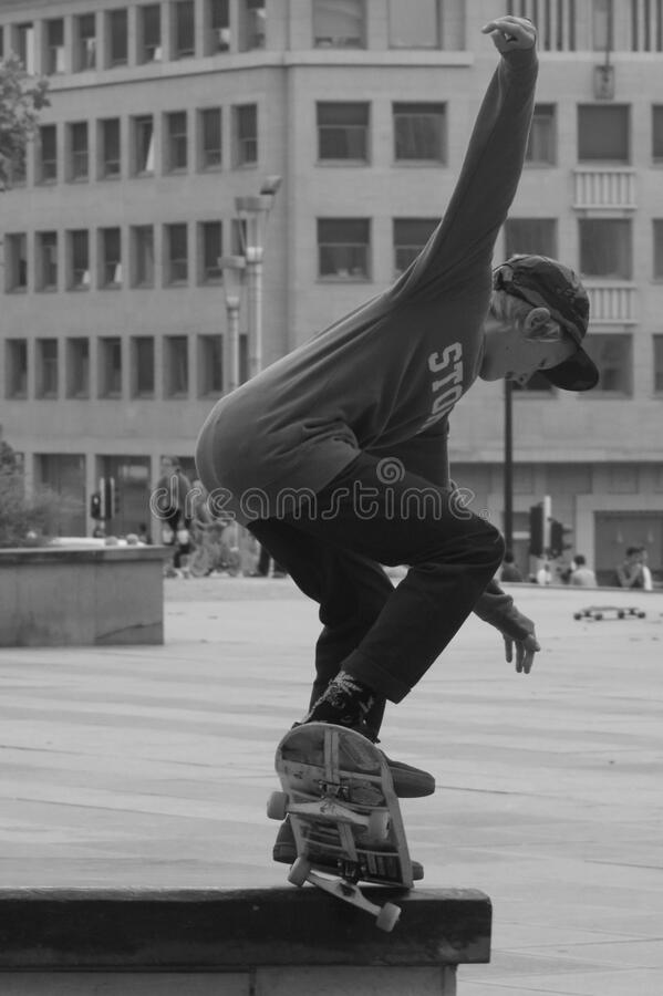 Boy Skateboarding Grayscale Photography Free Public Domain Cc0 Image