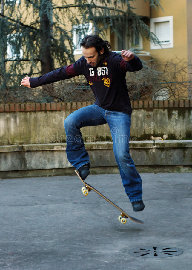 Free Boy Skateboarding II Stock Image - 66771