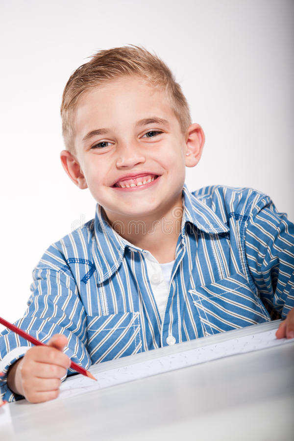 Download Boy with a sketch-pad stock image. Image of home, child - 21229679