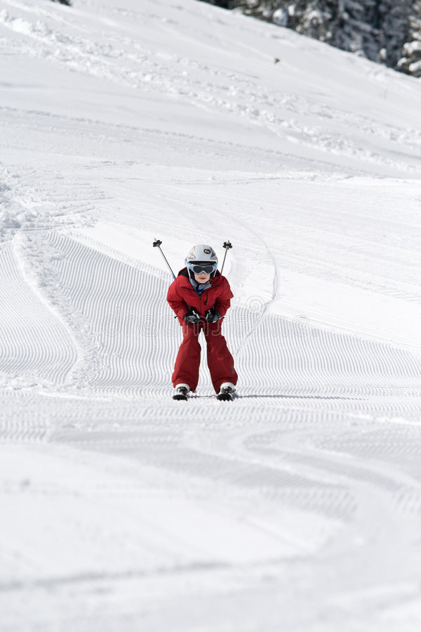 Download Boy Skiing Royalty Free Stock Photography - Image: 4819767