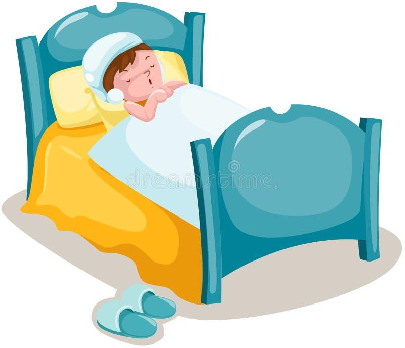 Download Boy sleeping stock vector. Illustration of blanket, icon - 24642995