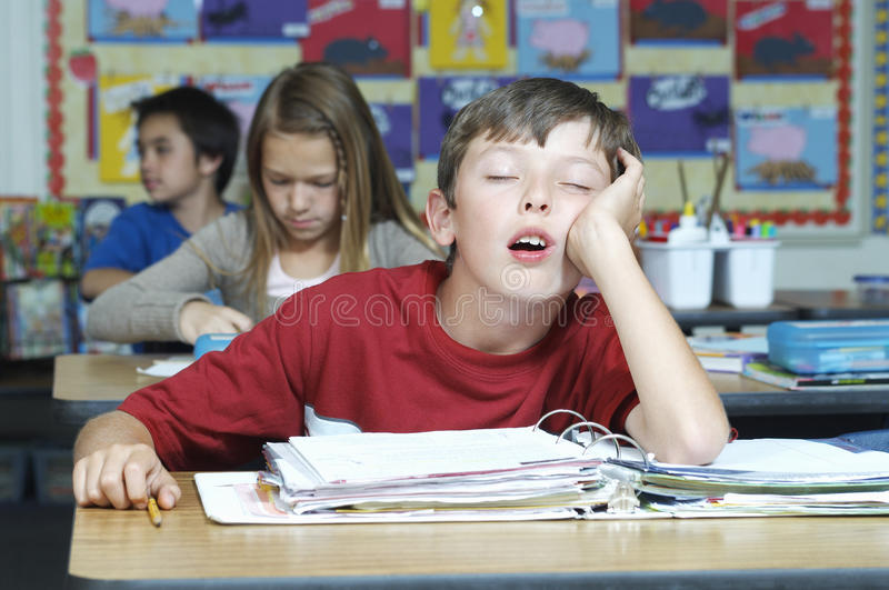 Download Boy Sleeping In Classroom stock photo. Image of person - 29662038